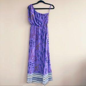 NEW • Tucker NYC • One Shoulder Maxi Dress Purple